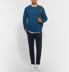 A.P.C. - Indigo-Dyed Loopback Cotton-Jersey Sweatshirt
