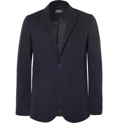 A.P.C. Navy Slim-Fit Cotton Blazer