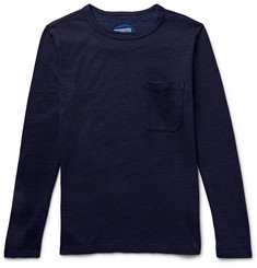 Blue Blue Japan Indigo-Dyed Knitted Cotton T-Shirt