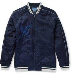 Blue Blue Japan Embroidered Satin Souvenir Jacket