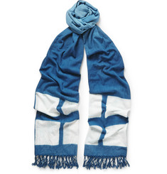 Blue Blue Japan - Indigo-Dyed Degradé Cotton Scarf