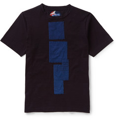 Blue Blue Japan - Slim-Fit Appliquéd Cotton-Jersey T-Shirt