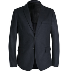 AMI - Navy Slim-Fit Unstructured Wool-Blend Blazer