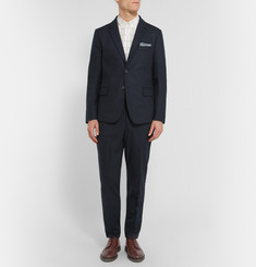AMI Navy Slim-Fit Unstructured Wool-Blend Blazer