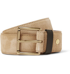 AMI 3.5cm Tan Suede and Leather Belt