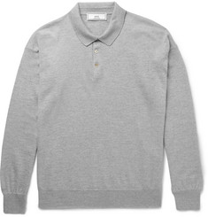AMI Slim-Fit Wool Polo Shirt