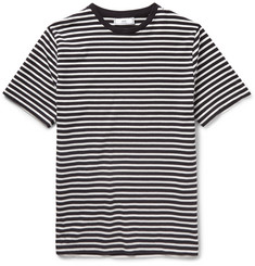 AMI - Striped Cotton T-Shirt