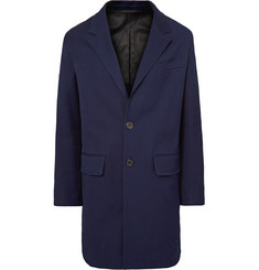 AMI - Stretch-Cotton Drill Overcoat