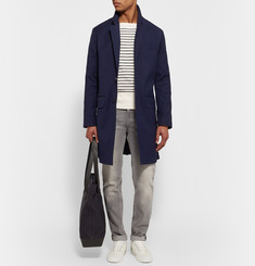 AMI Stretch-Cotton Drill Overcoat