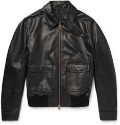 AMI - Leather Bomber Jacket