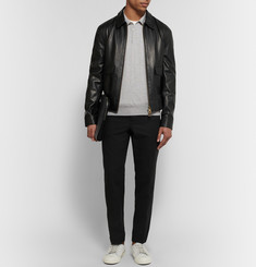 AMI Leather Bomber Jacket