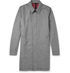 AMI Puppytooth Wool-Blend Mac
