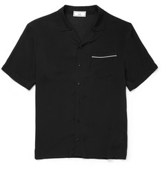 AMI Camp-Collar Voile Shirt