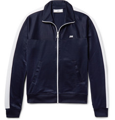 AMI Tech-Jersey Zip-Up Jacket