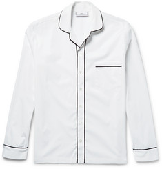 AMI Contrast-Tipped Cotton Shirt