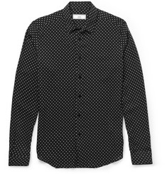 AMI Slim-Fit Polka-Dot Voile Shirt