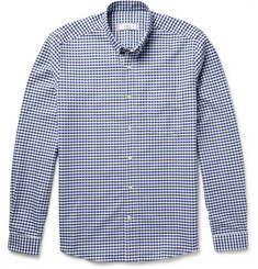 AMI - Slim-Fit Button-Down Collar Gingham Cotton Shirt