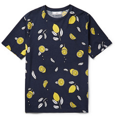 AMI - Lemon-Print Cotton-Jersey T-Shirt