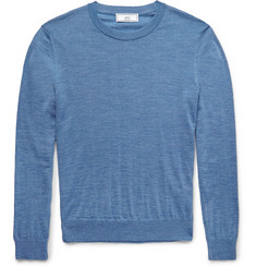 AMI Slim-Fit Fine-Knit Wool Sweater