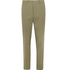 AMI Tapered Cotton-Blend Trousers