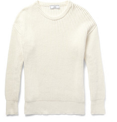 AMI Ribbed Cotton Sweater