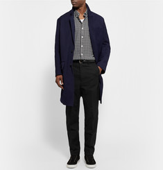 AMI Tapered Cotton-Blend Gabardine Trousers