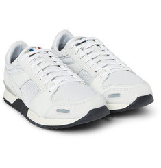 AMI - Panelled Leather and Mesh Sneakers