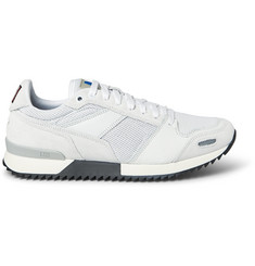 AMI Panelled Leather and Mesh Sneakers