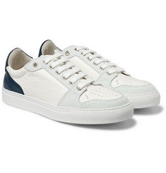 AMI - Suede-Trimmed Leather Sneakers