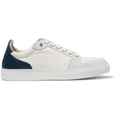 AMI Suede-Trimmed Leather Sneakers