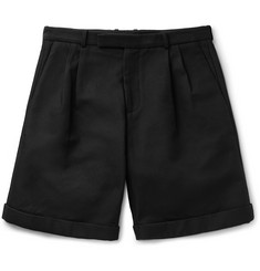 J.W.Anderson Wide-Leg Double-Pleat Cotton-Canvas Shorts