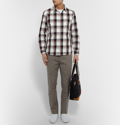Kics Document + Beams Slim-Fit Plaid Cotton Oxford Shirt