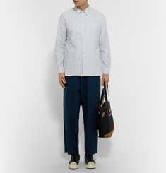 Kics Document + Beams Slim-Fit Striped Cotton Shirt