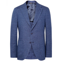 Loro Piana - Blue Toledo Slim-Fit Linen Blazer
