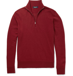 Loro Piana Roadster Slim-Fit Half-Zip Cashmere Sweater
