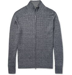 Loro Piana - Zip-Up Baby Cashmere, Flax and Silk-Blend Sweater