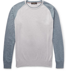Loro Piana Colour-Block Silk and Cashmere-Blend Sweater