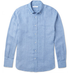 Loro Piana Checked Linen Shirt