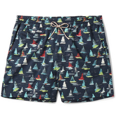 Loro Piana - Maui Printed Mid-Length Swim Shorts