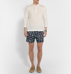 Loro Piana Maui Printed Mid-Length Swim Shorts