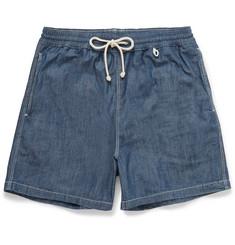 Loro Piana - Mid-Length Cotton-Chambray Swim Shorts