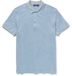 Loro Piana Slim-Fit Silk and Cotton-Blend Piqué Polo Shirt