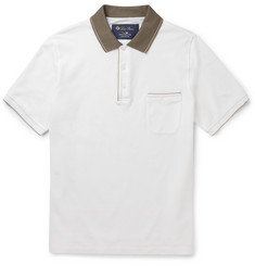 Loro Piana Slim-Fit Contrast-Trimmed Stretch Cotton-Piqué Polo Shirt