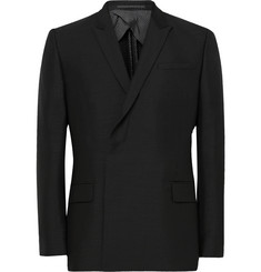 Kilgour - Double-Breasted Mohair and Wool-Blend Blazer
