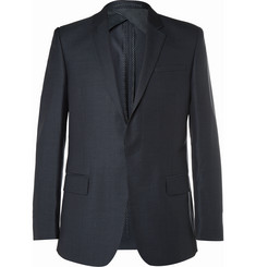 Kilgour - Navy Wool and Silk-Blend Suit Jacket