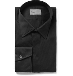 Kilgour Black Slim-Fit Cotton-Jersey Shirt