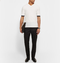 Kilgour Slim-Fit Contrast-Trimmed Wool Sweater
