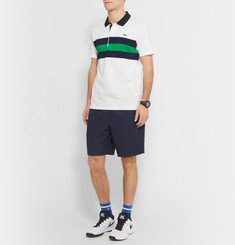 Lacoste Tennis Striped Cotton-Piqué Polo Shirt