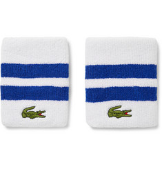 Lacoste Tennis Striped Stretch Cotton-Blend Terry Sweatbands
