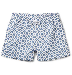 Frescobol Carioca - Paraty Printed Short-Length Swim Shorts